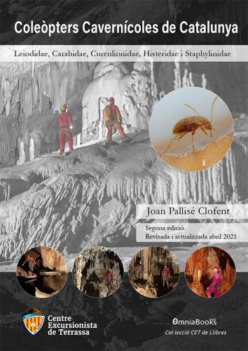 Portada de Coleòpters Cavernícoles de Catalunya. Leiodidae, Carabidae, Curculionidae,  Histeridae i Staphylinidae